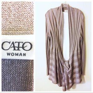 Like New ~ Cato Woman Drape Front Cardigan - 22/24